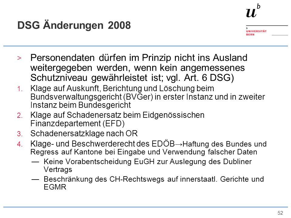 DSG Änderungen 2008