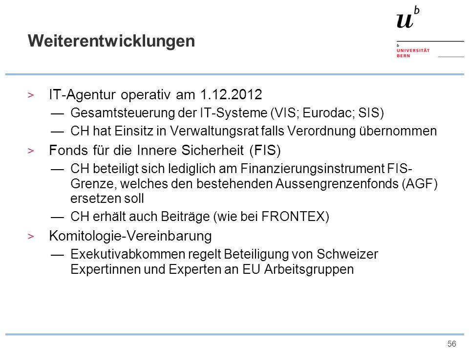 Weiterentwicklungen IT-Agentur operativ am 1.12.2012