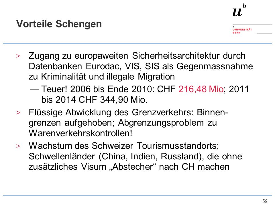 Vorteile Schengen
