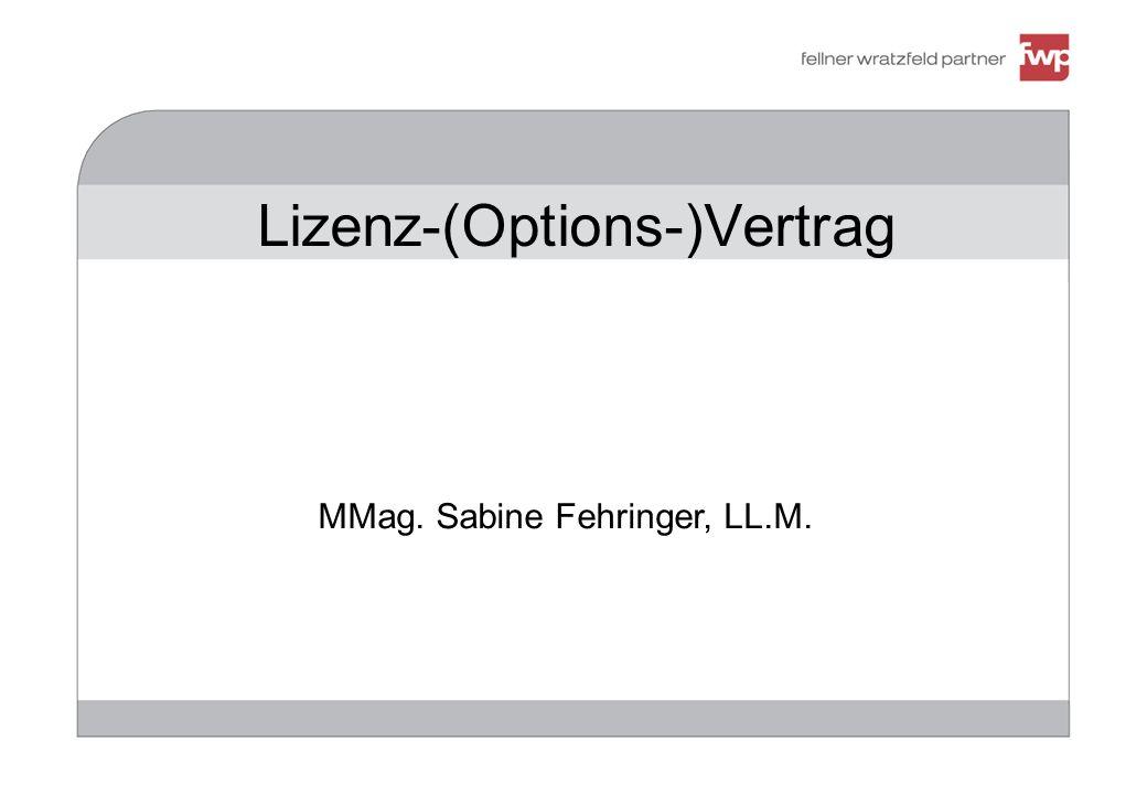 Lizenz-(Options-)Vertrag