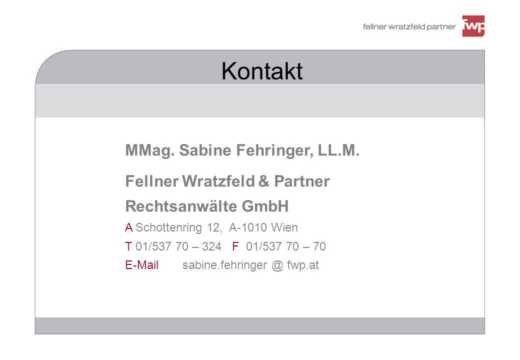 Kontakt MMag. Sabine Fehringer, LL.M.
