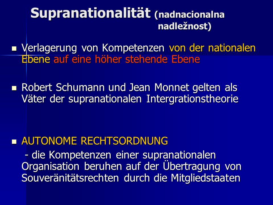 Supranationalität (nadnacionalna nadležnost)