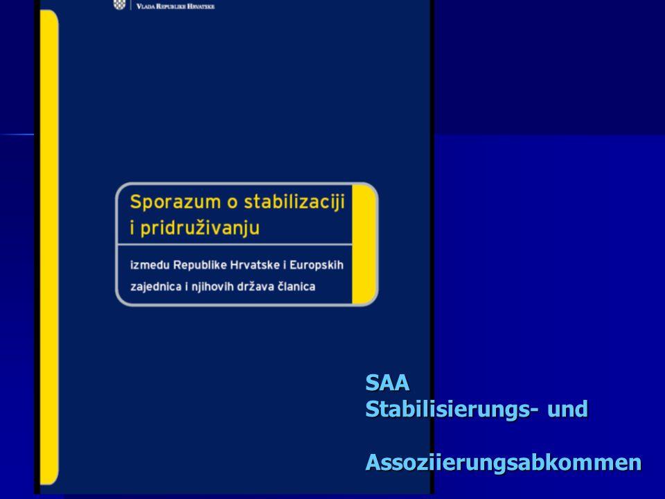 SAA Stabilisierungs- und Assoziierungsabkommen