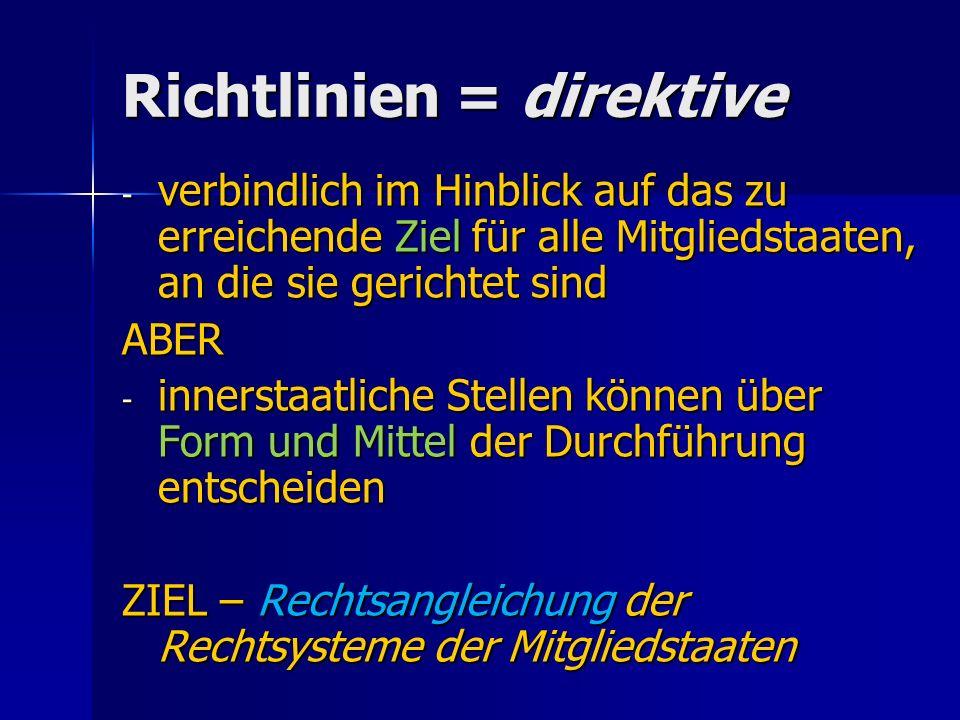 Richtlinien = direktive