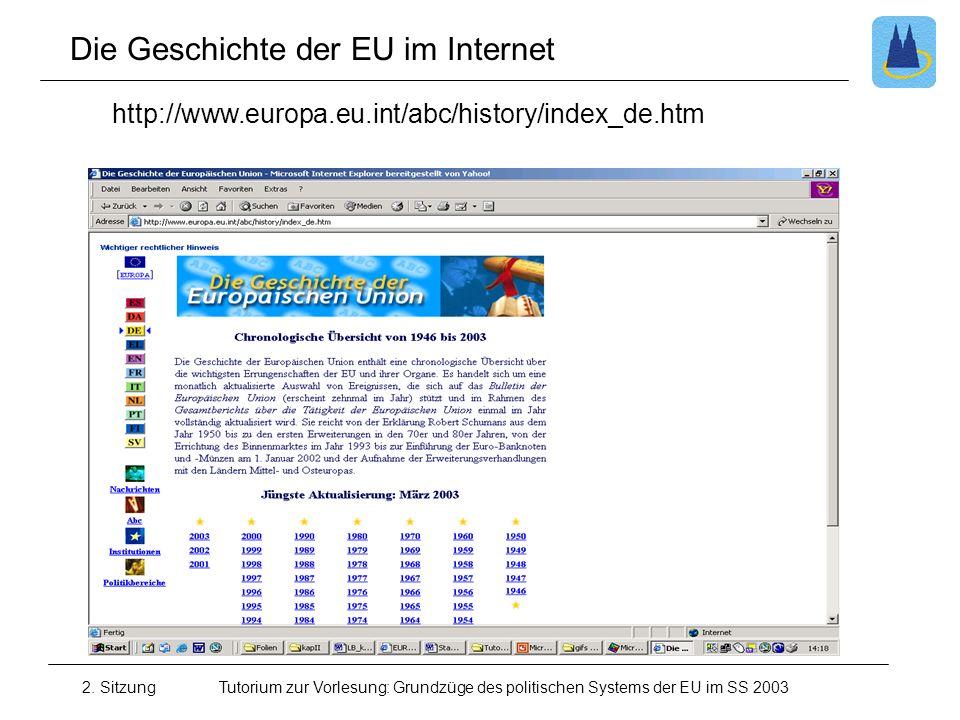 Die Geschichte der EU im Internet
