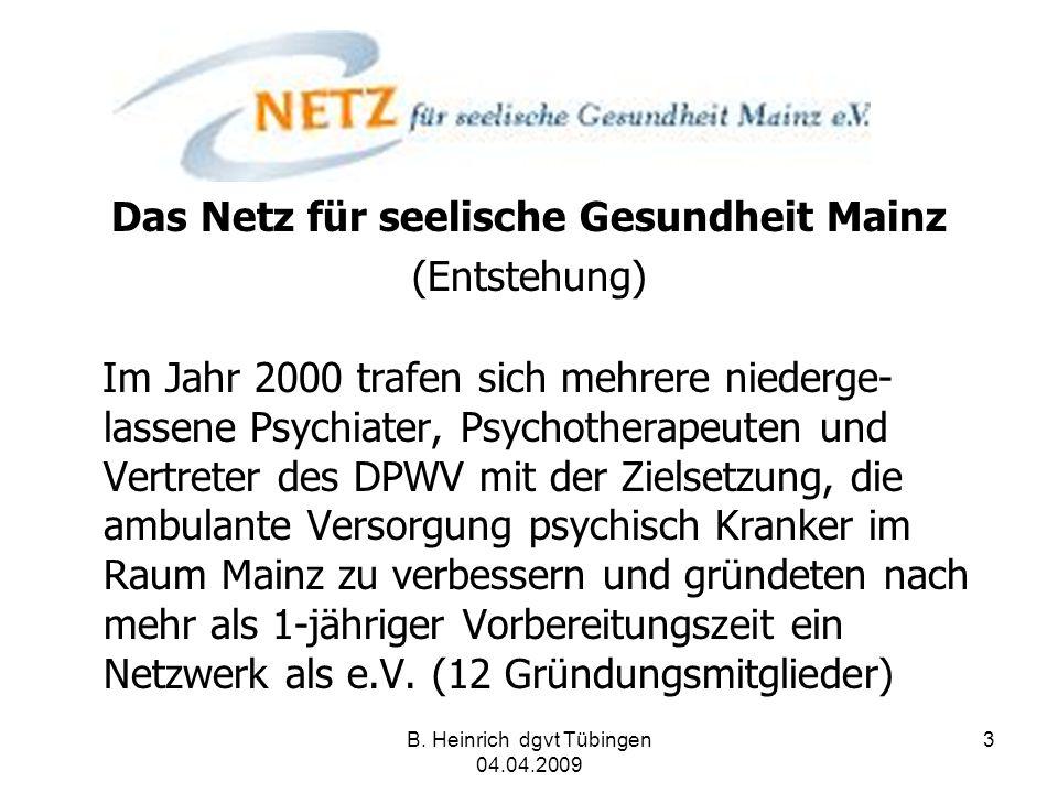 Das Netz für seelische Gesundheit Mainz (Entstehung)