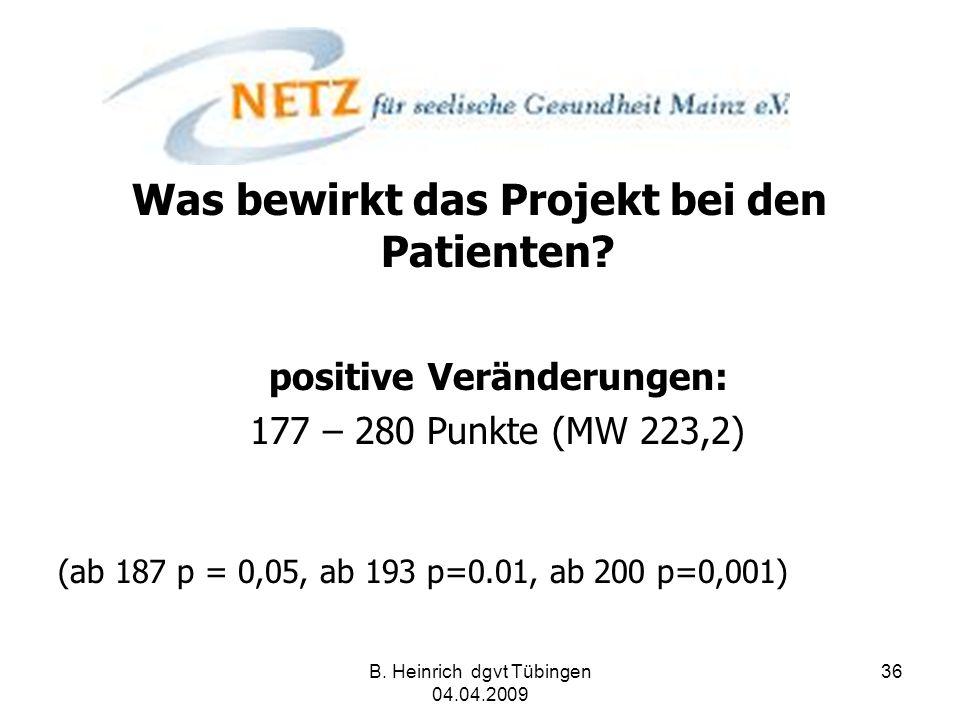 Was bewirkt das Projekt bei den Patienten