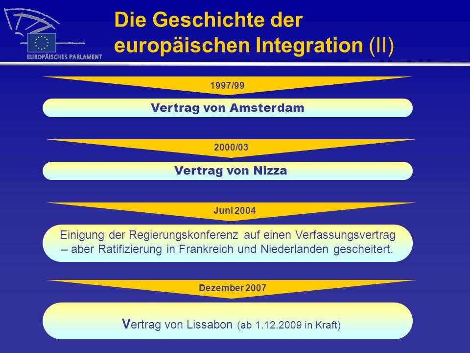 Die Geschichte der europäischen Integration (II)