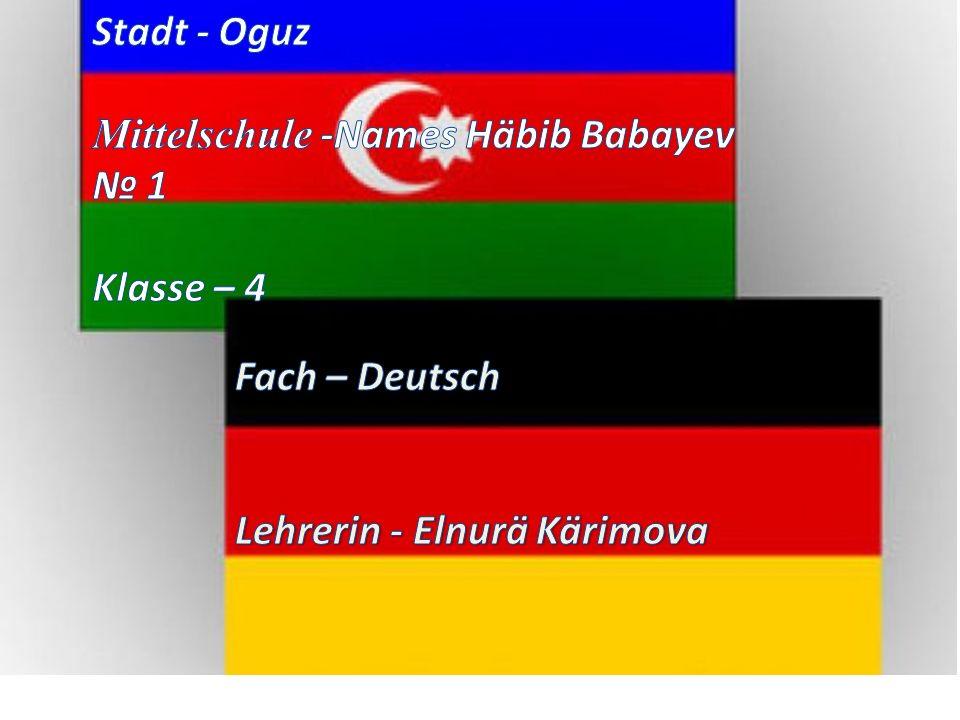 Stadt - Oguz Mittelschule -Names Häbib Babayev. № 1.