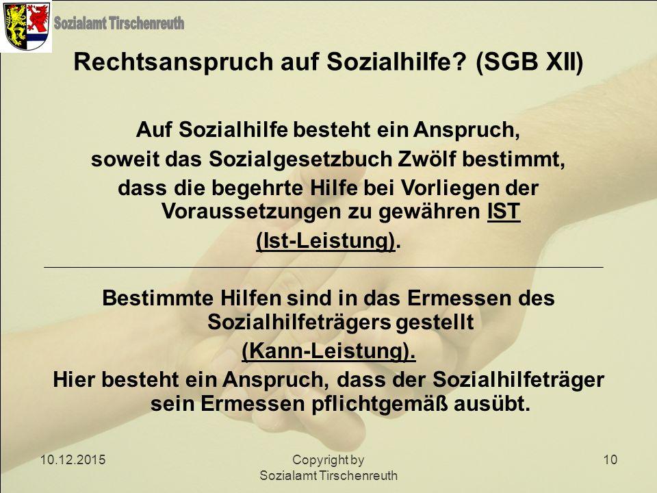 Rechtsanspruch auf Sozialhilfe (SGB XII)