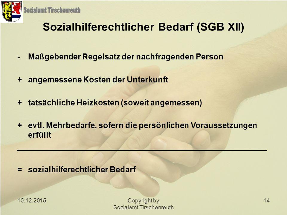 Sozialhilferechtlicher Bedarf (SGB XII)