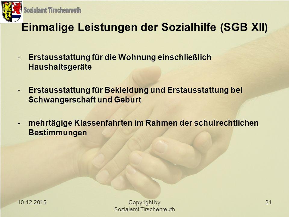 Einmalige Leistungen der Sozialhilfe (SGB XII)