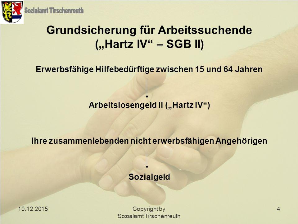 """Grundsicherung für Arbeitssuchende (""""Hartz IV – SGB II)"""