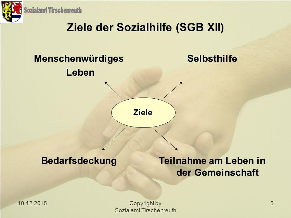 Ziele der Sozialhilfe (SGB XII)