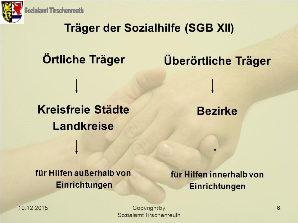 Träger der Sozialhilfe (SGB XII)