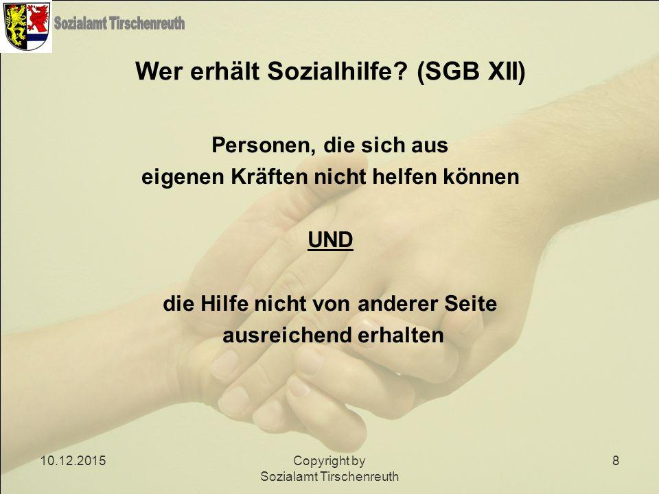 Wer erhält Sozialhilfe (SGB XII)