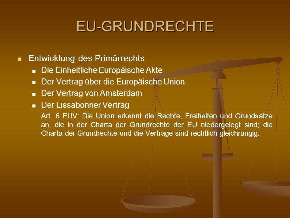 EU-GRUNDRECHTE Entwicklung des Primärrechts