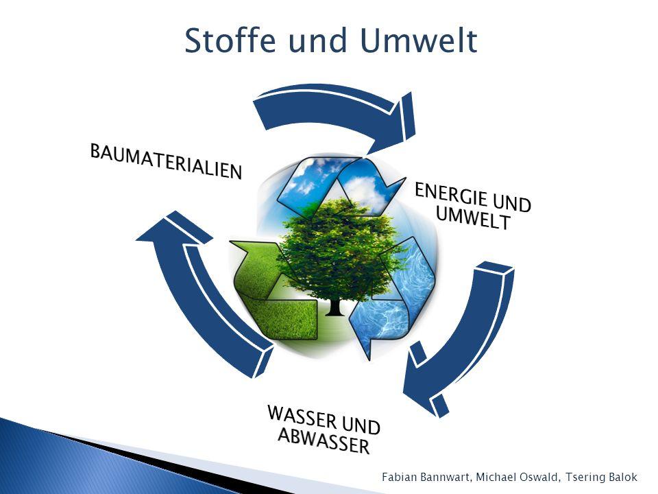 Stoffe und Umwelt ENERGIE UND UMWELT BAUMATERIALIEN