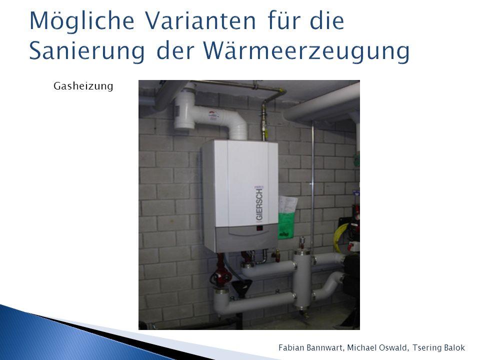 Mögliche Varianten für die Sanierung der Wärmeerzeugung
