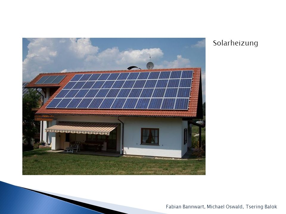 Solarheizung Fabian Bannwart, Michael Oswald, Tsering Balok