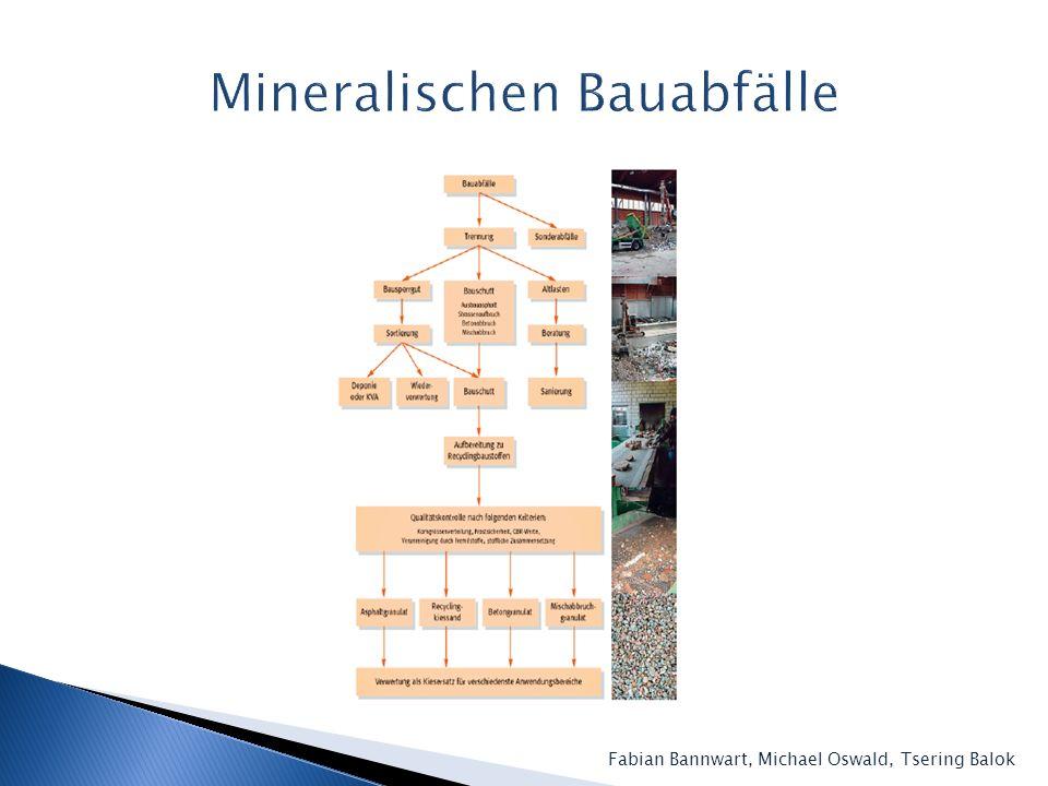 Mineralischen Bauabfälle