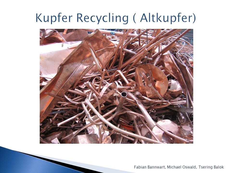 Kupfer Recycling ( Altkupfer)