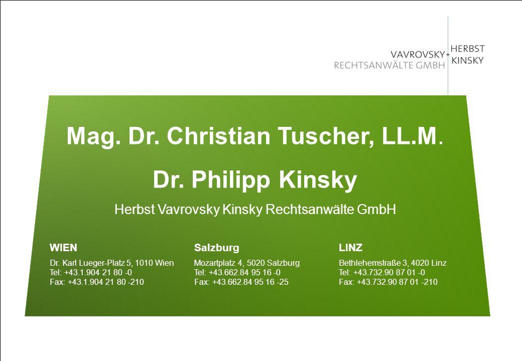 Dr. Philipp Kinsky Herbst Vavrovsky Kinsky Rechtsanwälte GmbH