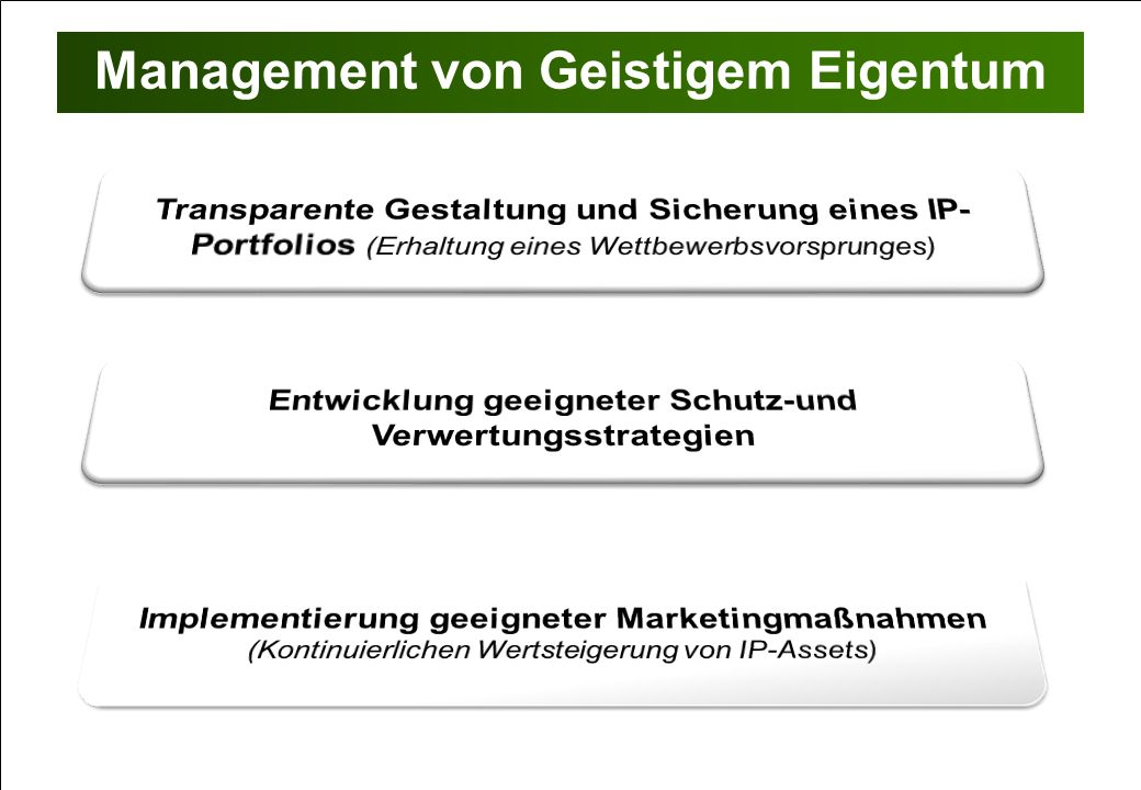 Management von Geistigem Eigentum