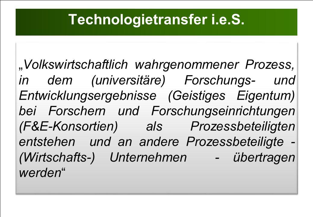 Technologietransfer i.e.S.