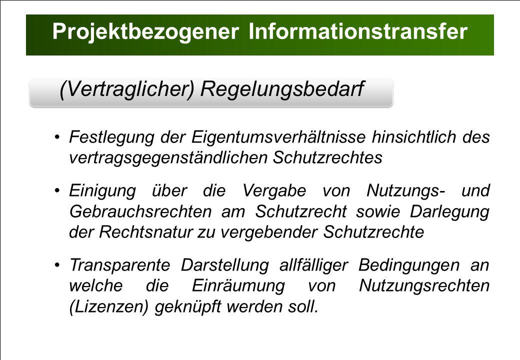 Projektbezogener Informationstransfer