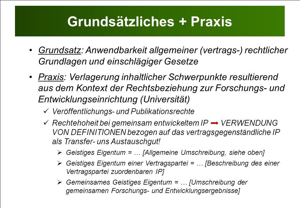Grundsätzliches + Praxis