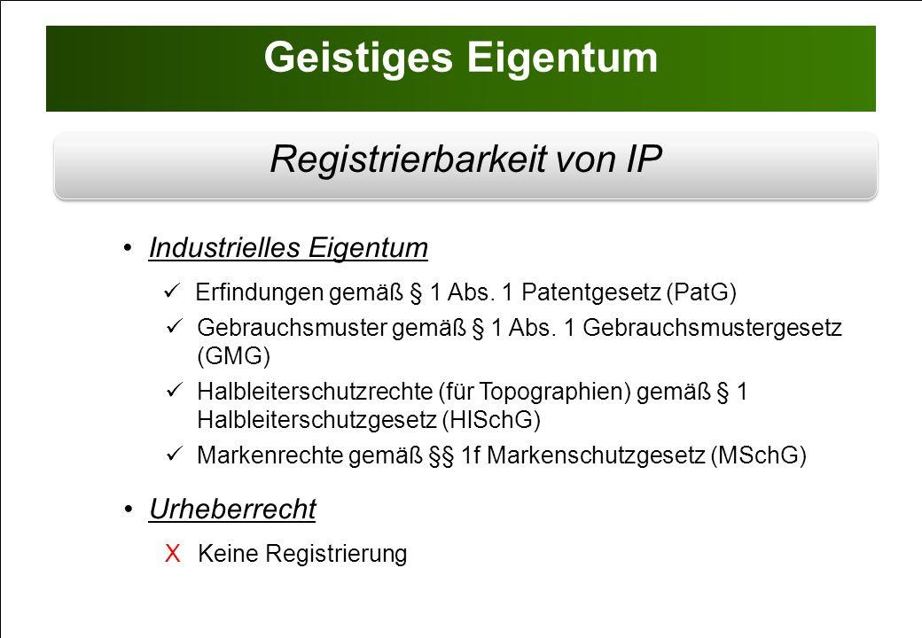 Registrierbarkeit von IP