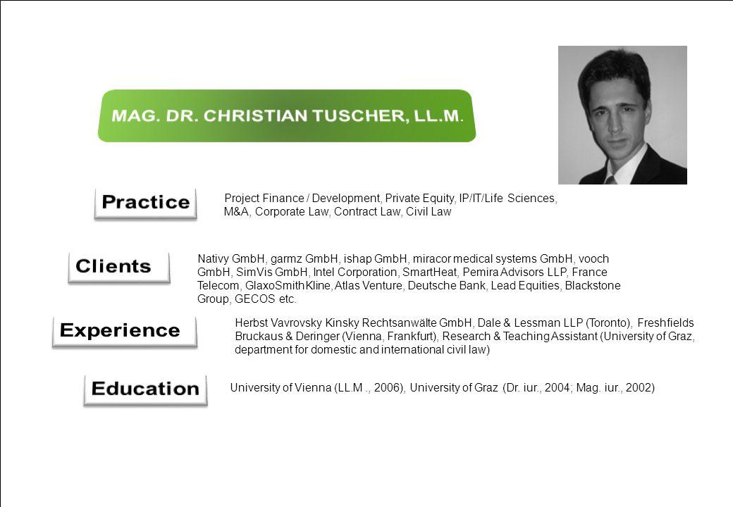 MAG. DR. CHRISTIAN TUSCHER, LL.M.