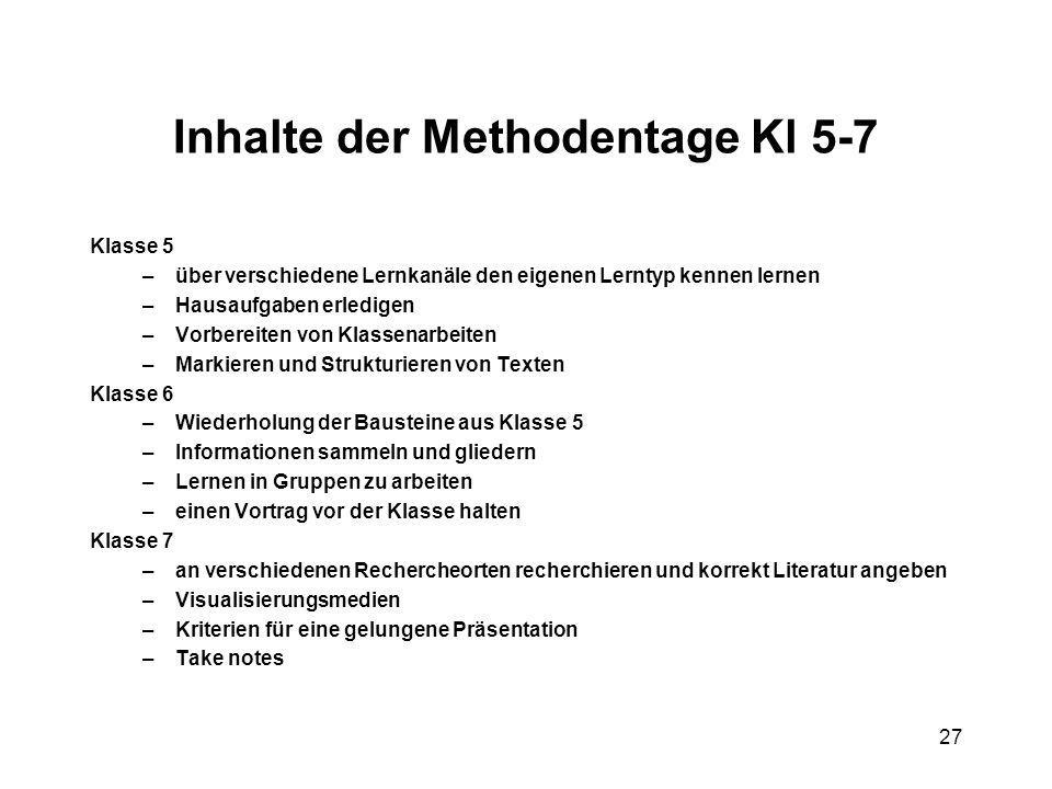Inhalte der Methodentage Kl 5-7