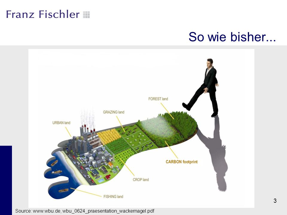 So wie bisher... Source: www.wbu.de, wbu_0624_praesentation_wackernagel.pdf