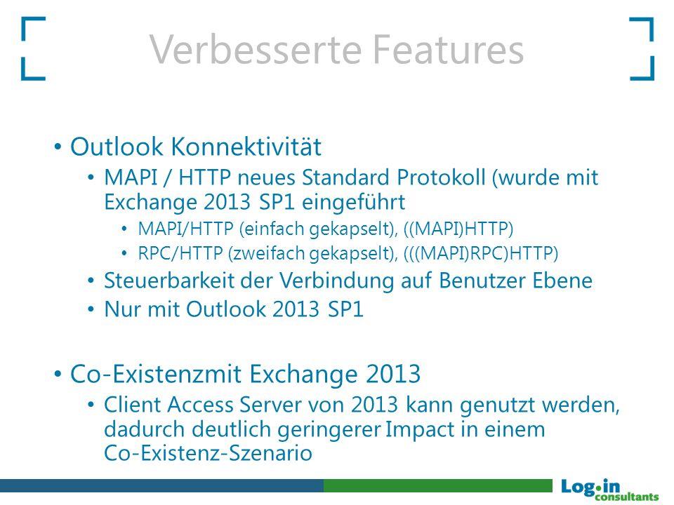 Verbesserte Features Outlook Konnektivität