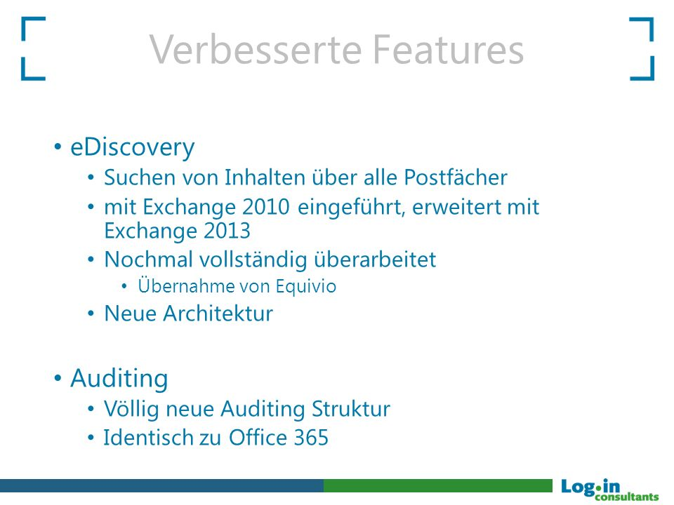 Verbesserte Features eDiscovery Auditing