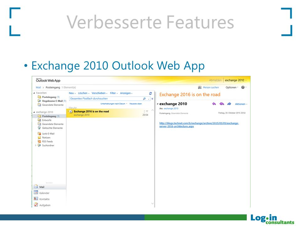 Verbesserte Features Exchange 2010 Outlook Web App