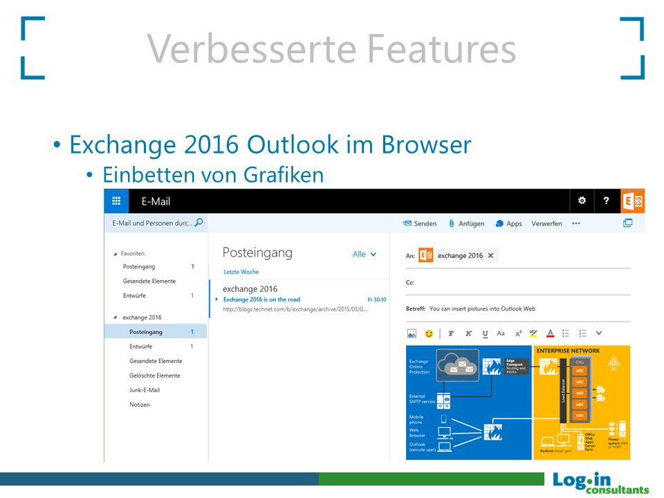 Verbesserte Features Exchange 2016 Outlook im Browser