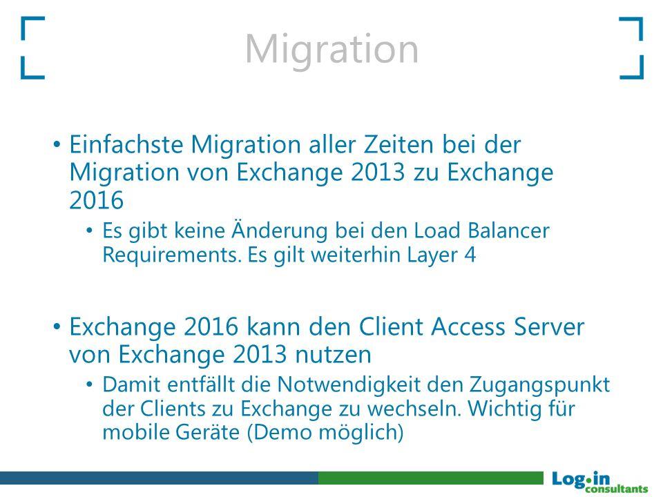 Migration Einfachste Migration aller Zeiten bei der Migration von Exchange 2013 zu Exchange 2016.
