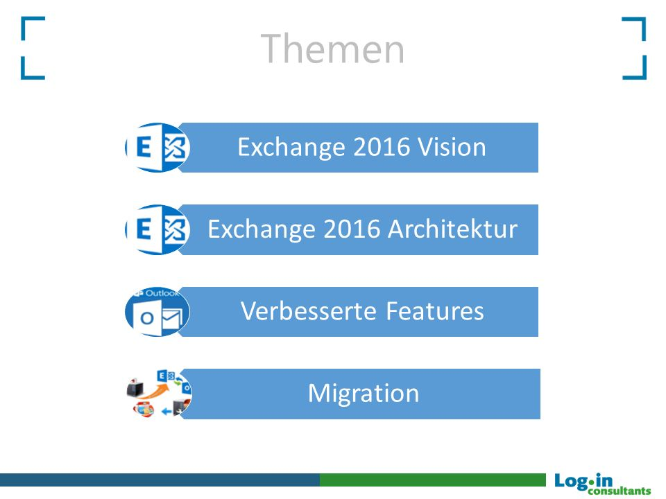 Themen Exchange 2016 Vision Exchange 2016 Architektur