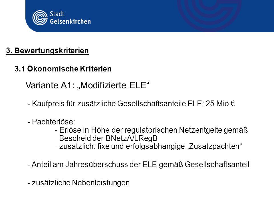 "Variante A1: ""Modifizierte ELE"