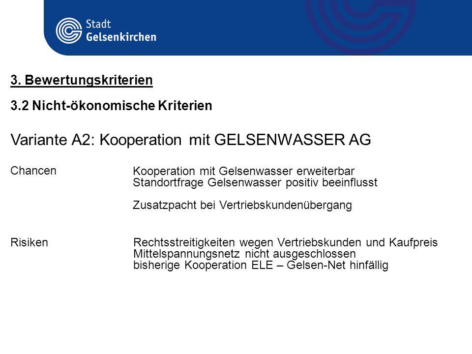 Variante A2: Kooperation mit GELSENWASSER AG