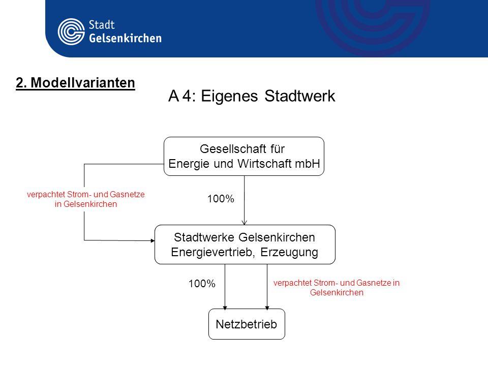 A 4: Eigenes Stadtwerk 2. Modellvarianten Gesellschaft für
