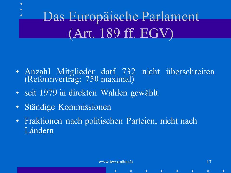 Das Europäische Parlament (Art. 189 ff. EGV)