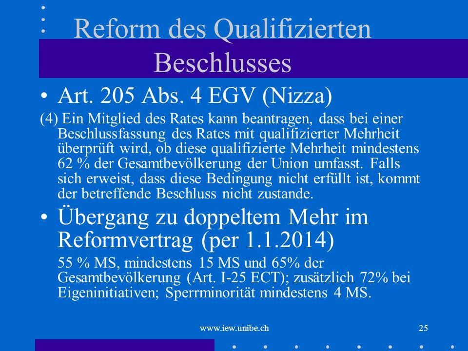 Reform des Qualifizierten Beschlusses