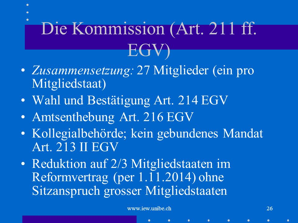 Die Kommission (Art. 211 ff. EGV)