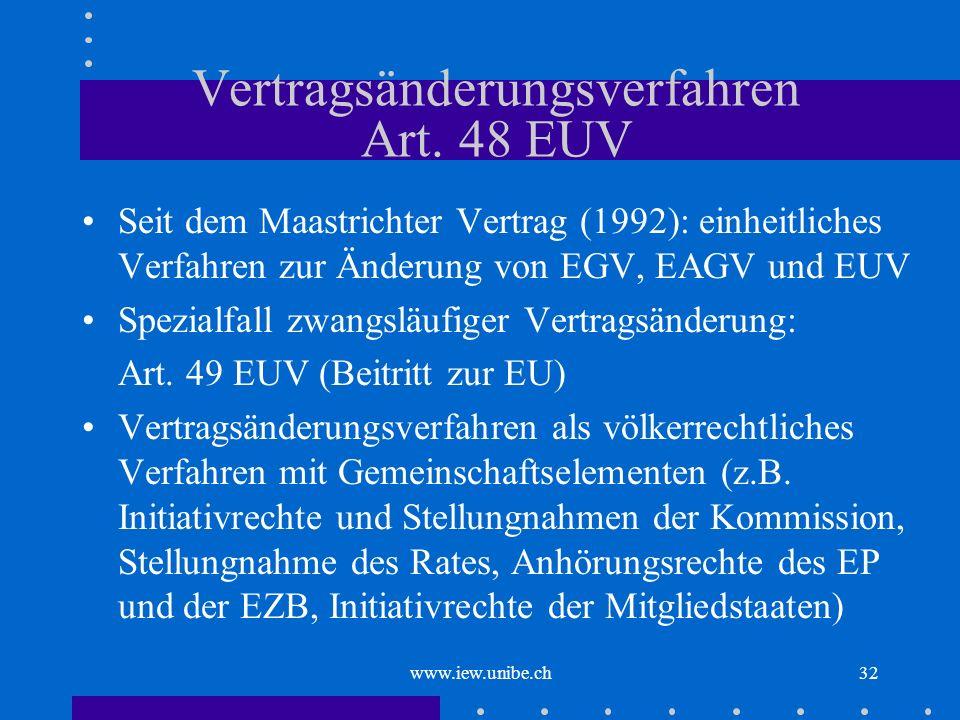 Vertragsänderungsverfahren Art. 48 EUV