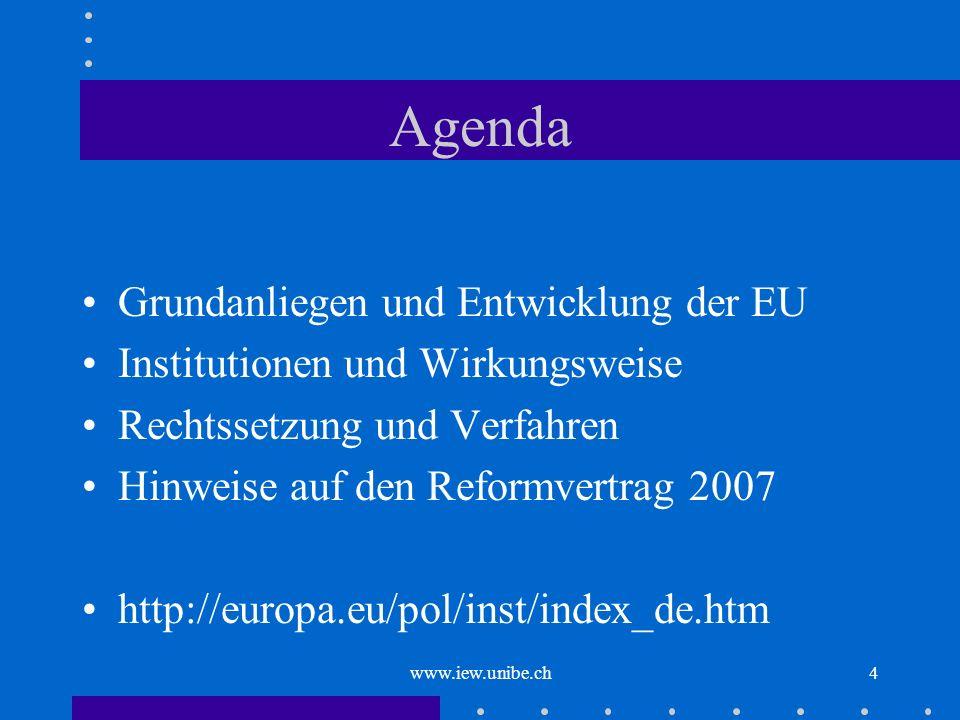 Agenda Grundanliegen und Entwicklung der EU