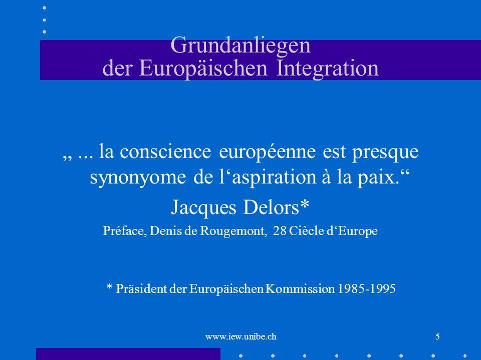 Grundanliegen der Europäischen Integration